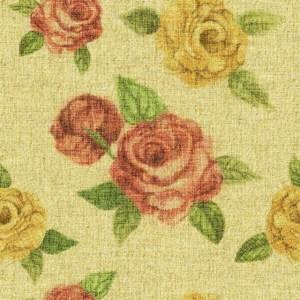 素朴なバラ柄の布,テクスチャー