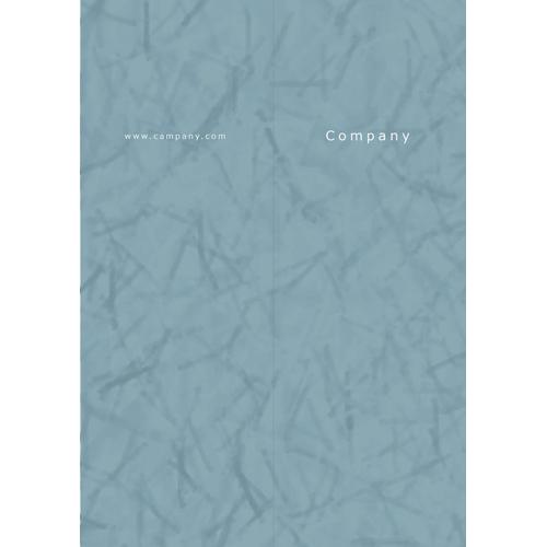 会社案内・パンフレット(撥水・ブルー・A4)