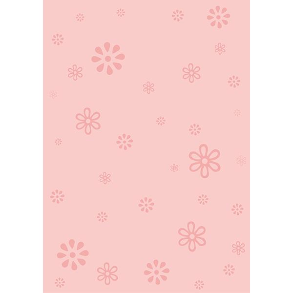 背景画像 ピンク色の花柄(カラー)