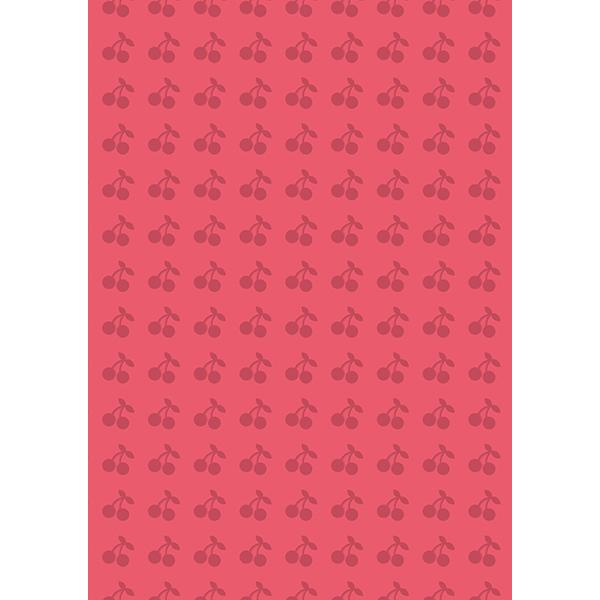 背景画像 さくらんぼ柄(カラー)