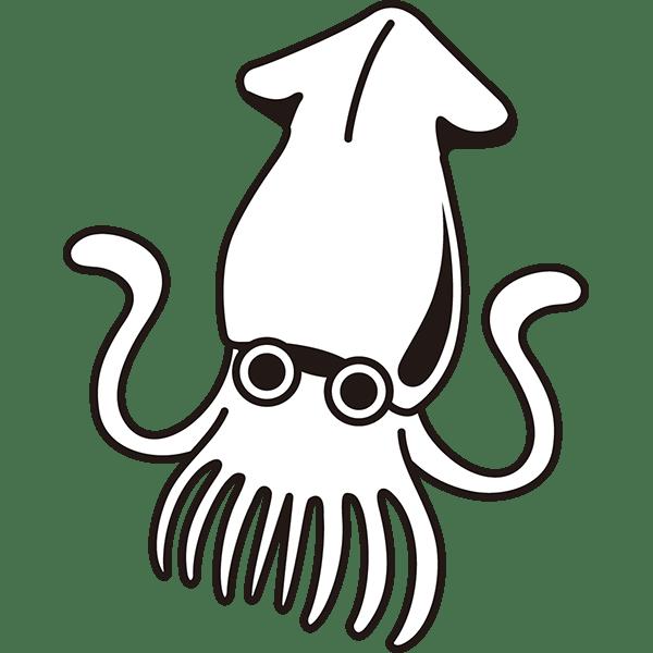 食品 イカ(モノクロ)