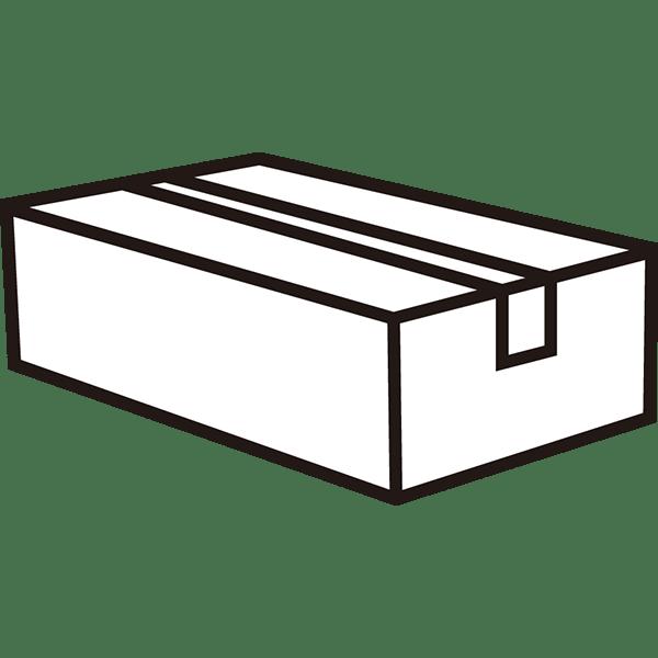 ビジネス 梱包された段ボール2(モノクロ)
