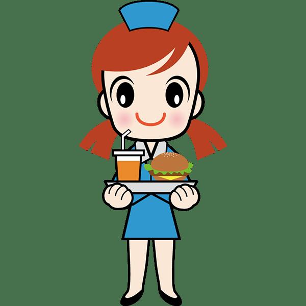 人物 ファストフード店員(ハンバーガーショップ)(カラー)