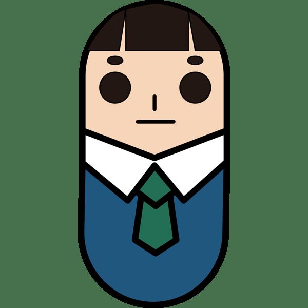 人物 ビジネスマン・アイコン(カラー)