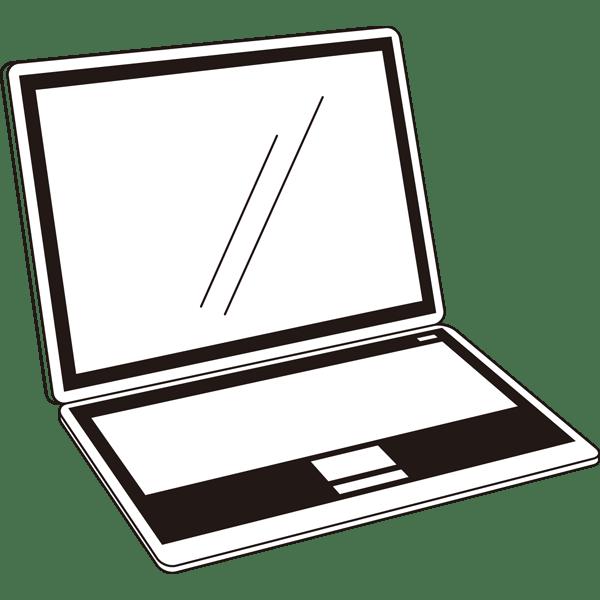 ビジネス ノートパソコン(オフィス機器)(モノクロ)