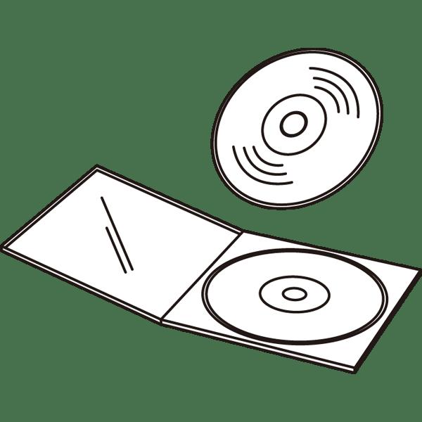 ビジネス CD・DVD(CD・DVDケース)(モノクロ)