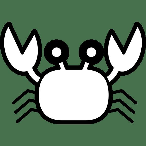 食品 蟹(カニ)(モノクロ)