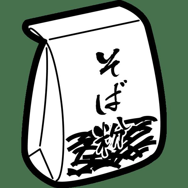 食品 そば粉(モノクロ)