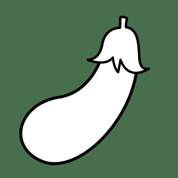 食品 なすび(モノクロ)