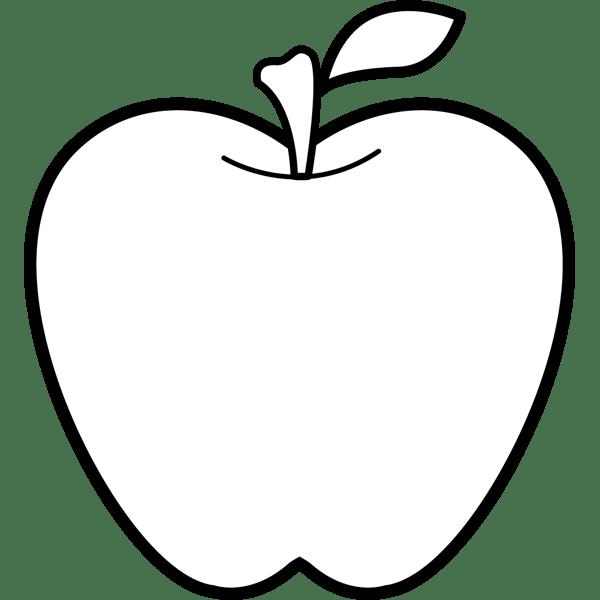 食品 りんご(モノクロ)