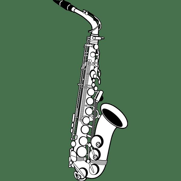 音楽 サックス(モノクロ)