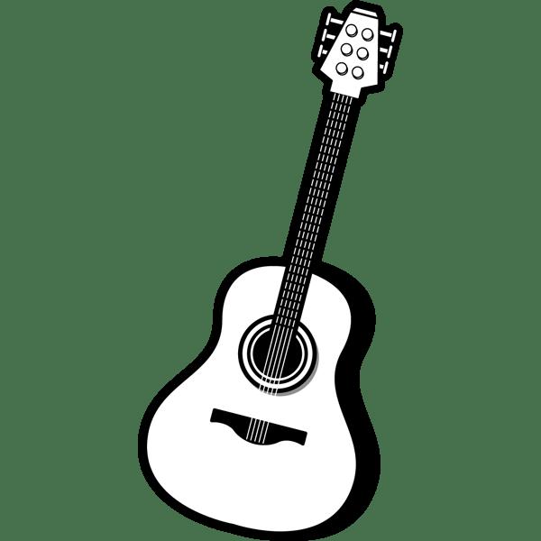 音楽 アコースティックギター(モノクロ)