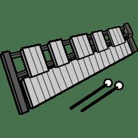 音楽 鉄琴(カラー)