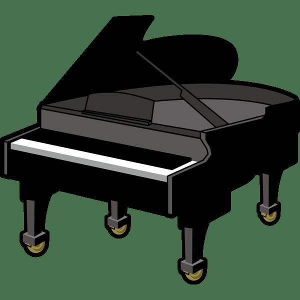 音楽 グランドピアノ(カラー)