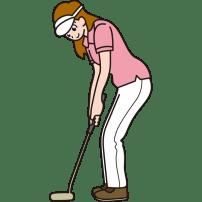 ゴルフ パターショット(ゴルフスイング)(カラー)
