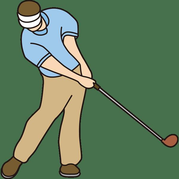 ゴルフ ゴルフスイング(カラー)