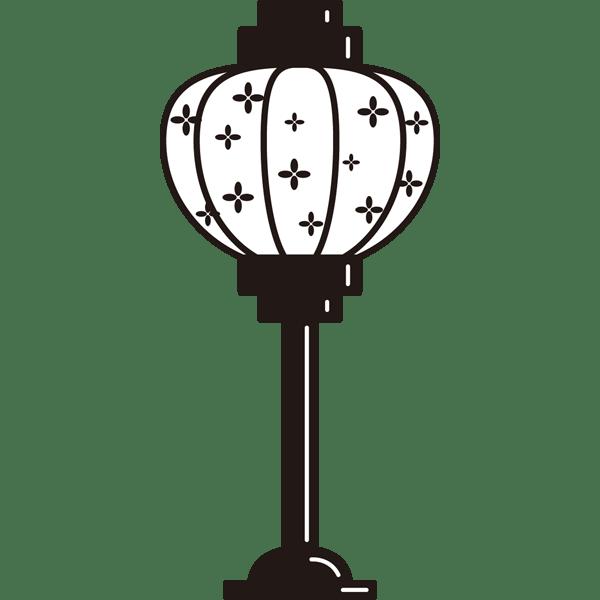 年中行事 雪洞(ぼんぼり)(モノクロ)