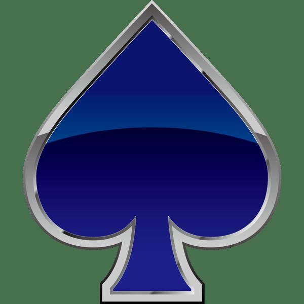 装飾 スペード(青いスペードマーク)(カラー)