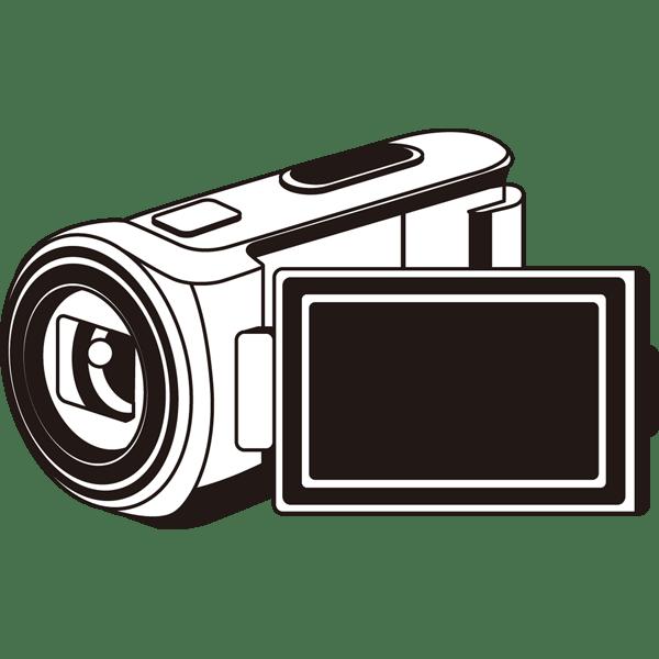 家庭 生活 ビデオカメラ モノクロ 無料イラスト Powerpointテンプレート配布サイト 素材工場
