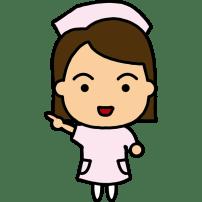 医療 看護師(ナース・キャラクター風)(カラー)