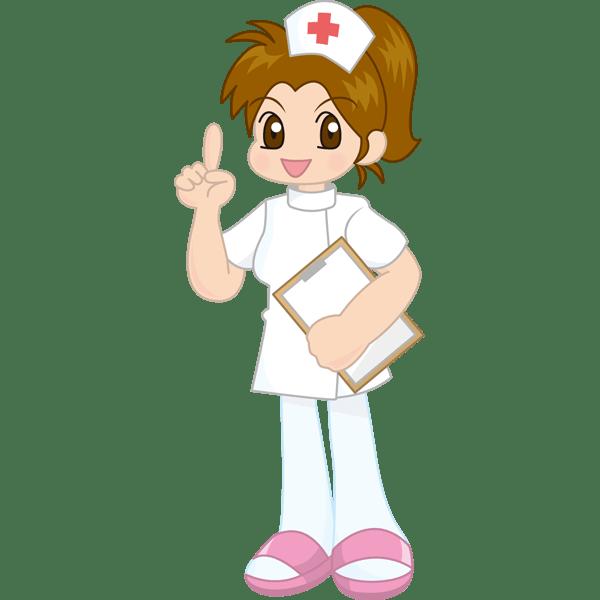 医療 看護師(ナース・マンガ風)(カラー)