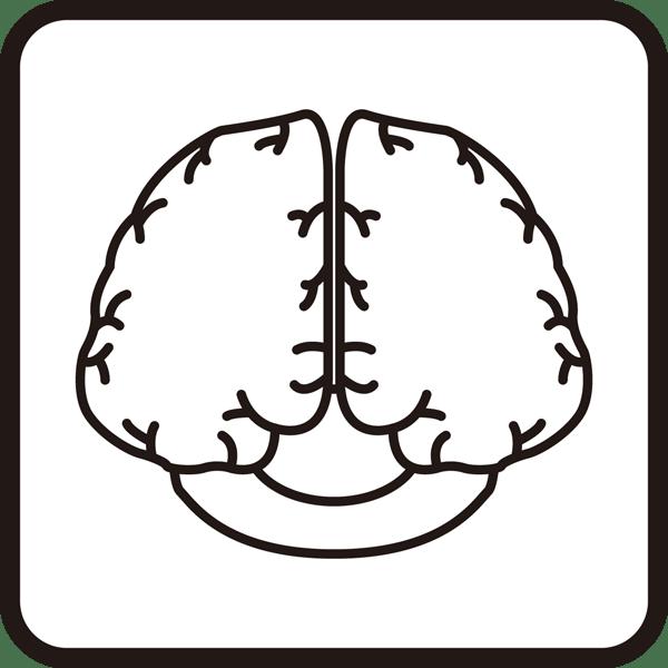 医療 脳神経外科アイコン(モノクロ)