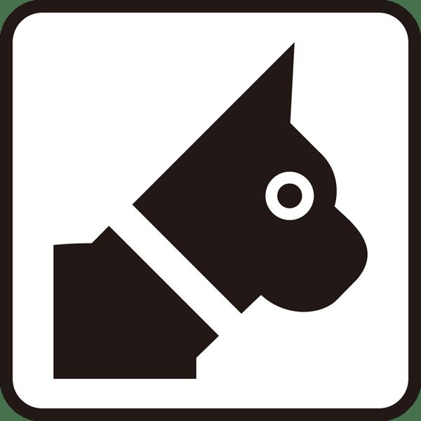医療 犬アイコン(頭)(モノクロ)