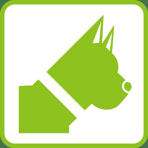 医療 犬アイコン(頭)(カラー)