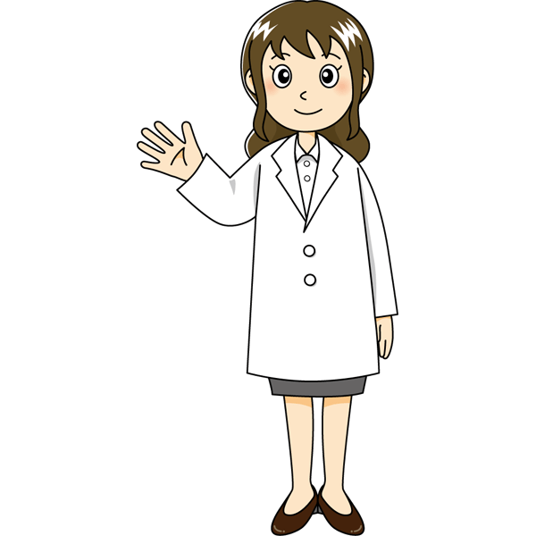 医療 医者(ドクター・女の人)(カラー)