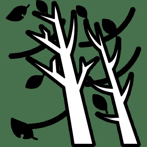 年中行事 木枯らし(冬の風)(モノクロ)