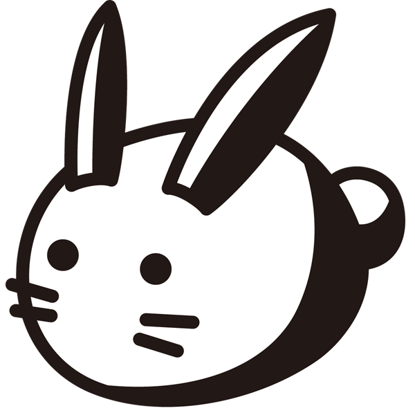 年中行事 雪うさぎ(モノクロ)