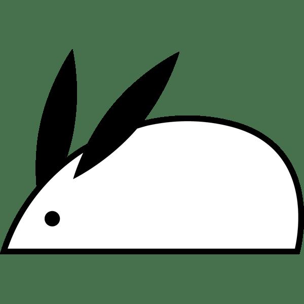 年中行事 うさぎ(モノクロ)