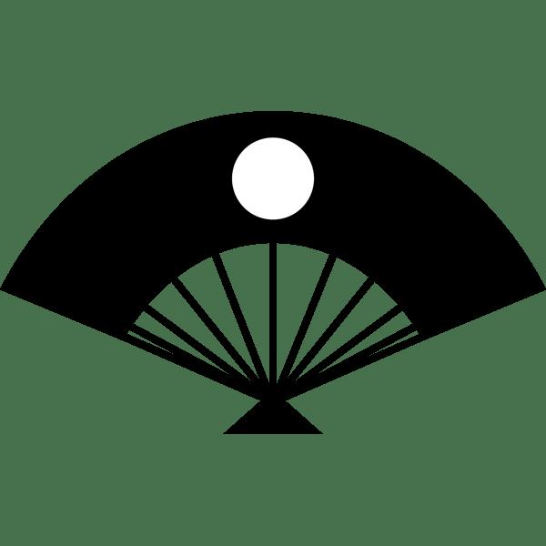 年中行事 扇子(日の丸)(モノクロ)