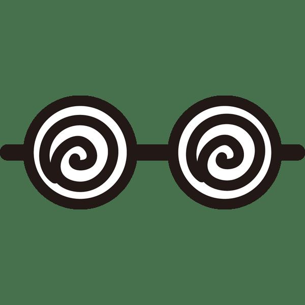 装飾 メガネ(うずまきメガネ)(カラー)