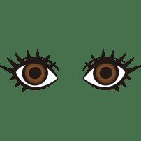 目(ブラウンの瞳)(カラー)