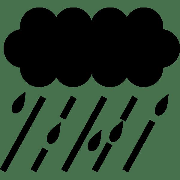 年中行事 雨(くもり雲)(モノクロ)