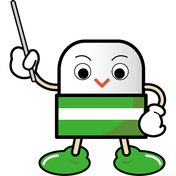 学校 消しゴム(消しゴムキャラクター・緑)(カラー)