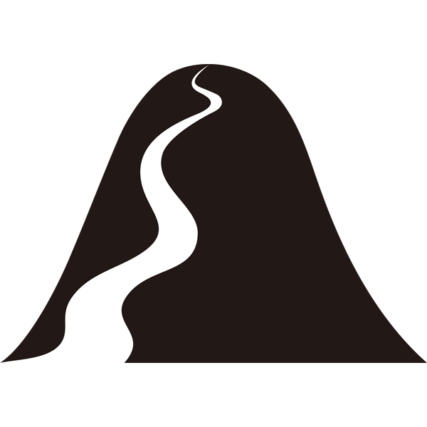 自然 山シルエットイラストモノクロ 無料イラスト