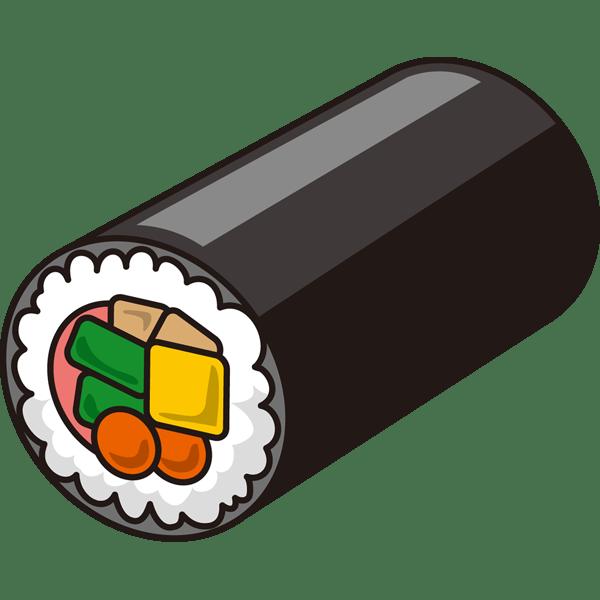 年中行事 恵方巻き(巻き寿司)(カラー)