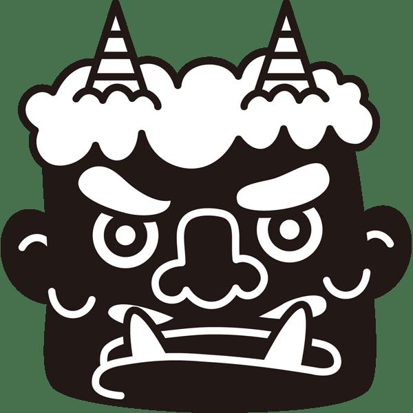 年中行事 鬼(節分)(モノクロ)