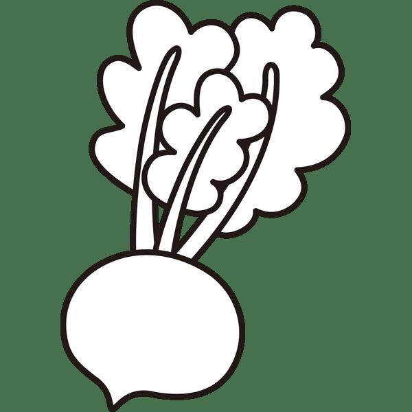 植物 スズナ(モノクロ)