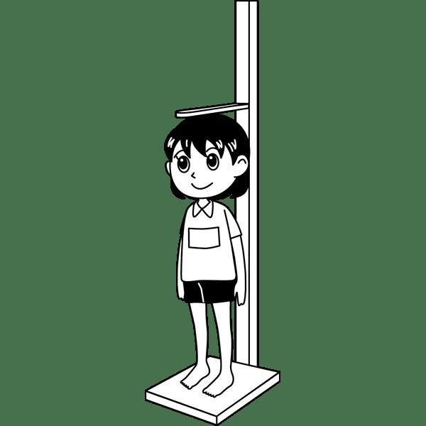 学校 女子生徒(身体測定)(モノクロ)