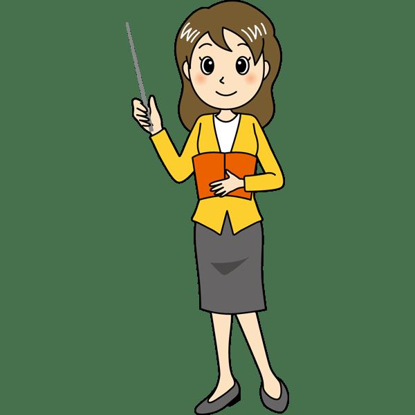 学校 教師(女性の先生)(カラー)