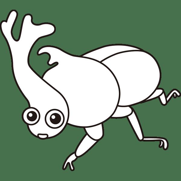 年中行事 カブトムシ(モノクロ)