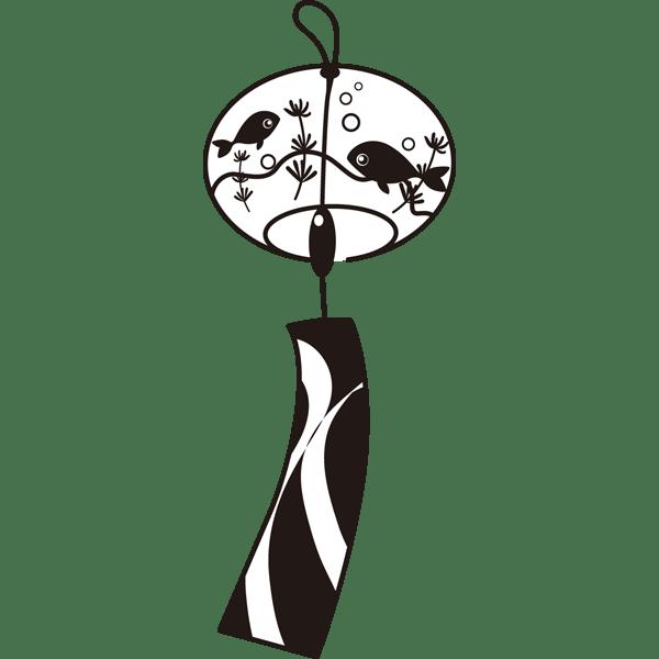 年中行事 風鈴(モノクロ)