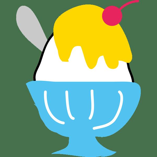 年中行事 かき氷(レモン味・黄色)(カラー)