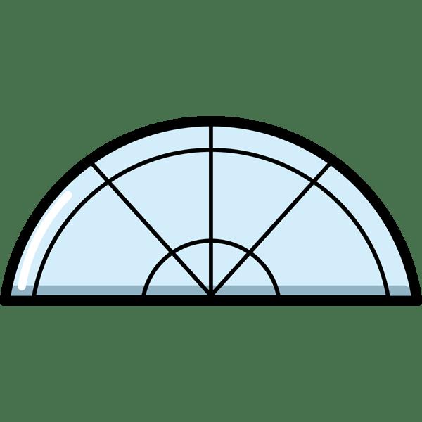 学校 分度器(カラー)