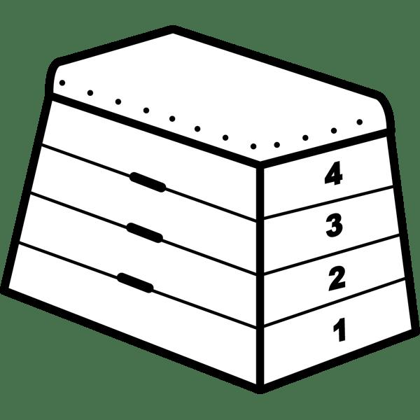 学校 跳び箱(とびばこ)(モノクロ)