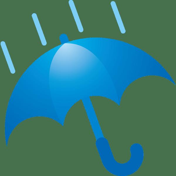 自然 雨(天気・傘)(カラー)