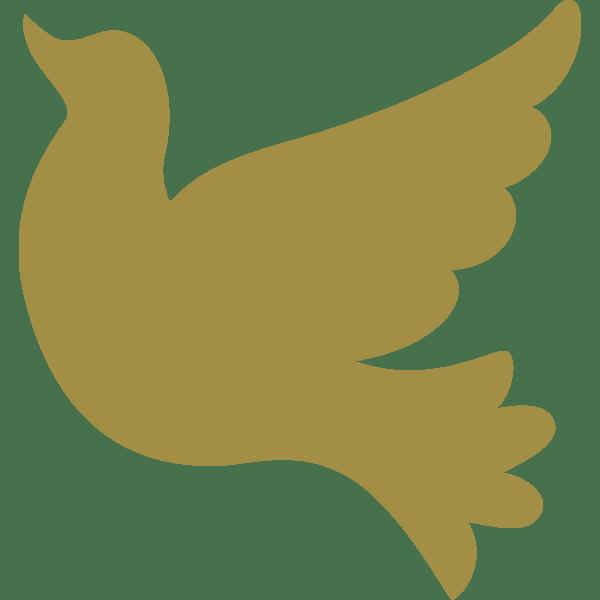装飾 シルエット(ハト)(カラー)